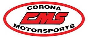 Red White and Black Corona Motorsports Logo.